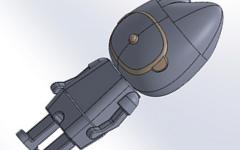 3Dプリンターでサナダグループのイメージキャラクターのサナダくんを作りました。
